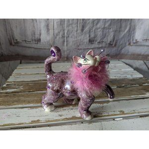 2004 lacombe purple cat kitten figurine